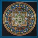 Tibetan Mantra Mandala Hand Painted Tibetan Wall HangingThangka Painting From Nepal