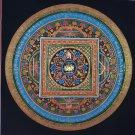 Lotus Mantra Mandala Hand Painted canvas Cotton Tibetan Thangka Painitng From Nepal