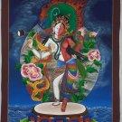 Ardhanarishvara (Shiva Shakti) Fine Master Piece Thangka Painitng From Nepal