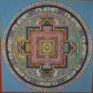 Original Tibetan Mandala Hand Painted Tibetan Wall Hanging Thangka Painting From Nepal