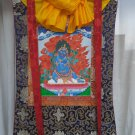 Vajrapani Hand Painted Canvas Cotton Tibetan Thangka With Silk Framed From Nepal
