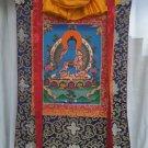 Medicine Buddha Hand Painted Canvas Cotton Tibetan Thangka Painting