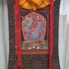 Vajrayogini and Vajrasattva shakti Hand Painted Thangka With Silk Framed from Nepal