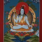 Shiva Thangka Hand Painted Canvas Cotton Painting From Nepal