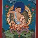 Milarepa Hand Painted Canvas Cotton Tibetan Thangka Painting From Nepal