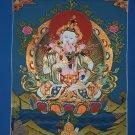 Vajrasattva Shakti hand painted canvas cotton thangka From Nepal