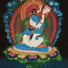 Vajrasattva Shakti Fine Quality Master Piece Hand Painted Canvas Cotton Thangka From Nepal