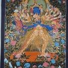 Kalachakara deity with his consort Vishvamata Hand Painted Thangka Painting From Nepal