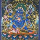 Six-armed Mahankala Canvas Cotton Tibetan Hand Painted Thangka Painting From Nepal