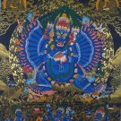 Yamantaka Hand Painted Tibetan Thangka From Nepal
