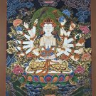 Mother Goddess Thangka Hand Painted Canvas Cotton Tibetan Painting From Nepal