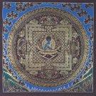 Bhaiṣajyaguru / Medixine Buddha Mandala Fine Quality Thangka Painting From Nepal