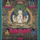 Chenrezig Compassion Buddha Hand Painted Tibetan Thangka Painiting From Nepal