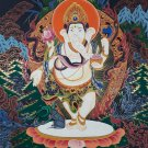 Ganesh Hand Painted Fine Quality Thangka Painting From Nepal
