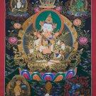 Vajrasattva Shakti Hand Painted Tibetan Buddhist Art Wall Hanging Thangka Painting From Nepal