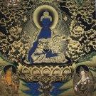 Medicine Buddha Hand Painted Canvas Cotton Tibetan Thangka Painting From Nepal