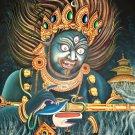 Panjarnata Mahankala Tibetan hand painted Canvas cotton thangka from Nepal
