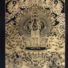 Sahasrabhuja Avalokiteswara Hand-Painted canvas cotton Thangka from Nepal