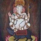 Newari Ganesh Hand Painted Fine Quality Thangka Painting From Nepal