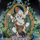 Four Arm Dancing Ganesh Hand Painted Canvas Cotton Fine Quality Thangka Painting From Nepal