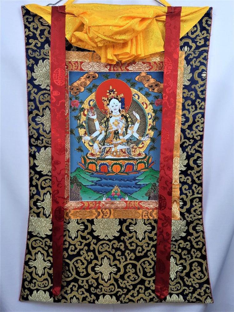 Namgyalma Thangka Hand Painted Canvas Cotton Tibetan Thangka Painting From Nepal