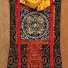 White Tara Mandala Meditation Mandala Thangka Painting With Silk Framed