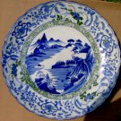 "1800S JAPANESE  MEIJI  PERIOD 18"" BLUE/WHITE GORGEOUS CHARGER:"