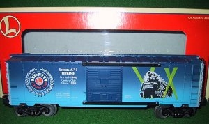 Lionel 29228 - 671 Turbine Century Club Box Car 1998 Edition New OB - O Gauge