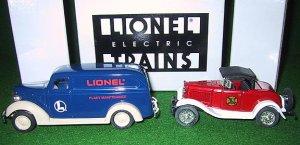 Lionel Eastwood 292000W Lionel Two Car Ertl Chevrolet & Ford Set  New OB 1:43