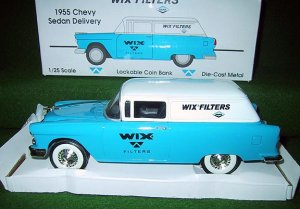 Wix Filters Die Cast 1955 Chevrolet Sedan Delivery - Liberty Classics - New OB