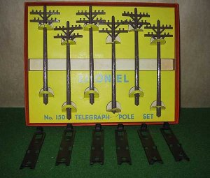 Lionel Trains 150 Telegraph/Telephone Pole Set OB Excellent Postwar