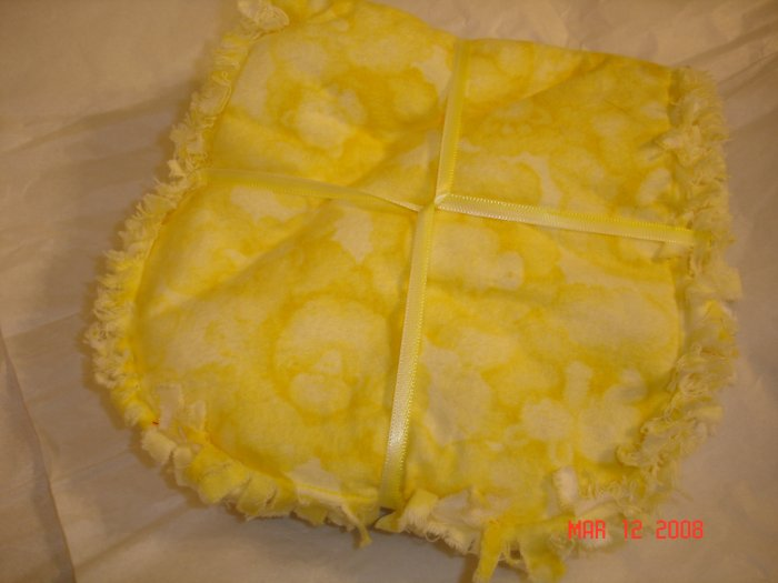 Yellow Cloud Animals Rag Burp Cloth