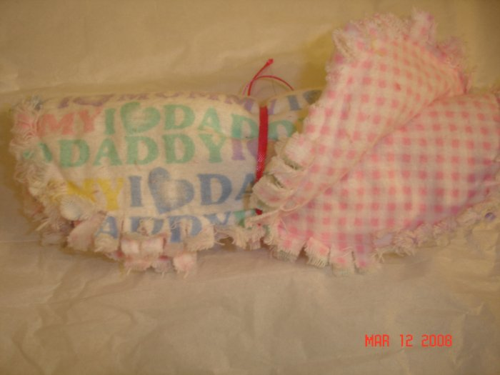 """I love Mommy, I love Daddy"" Rag burp cloth"