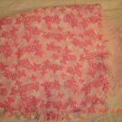 "Pink ""God Loves You"" rag burp cloth"