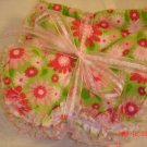 Girl theme set of 3 Rag Burp Cloths