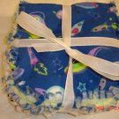 Boy theme (Space/construction/sea) set of 3 Rag Burp Cloths