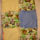 Jungle Friends Rag Lovey/ Security Blanket