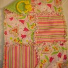 Pink/ Green Stripe/ Hearts Rag Lovey/ Security Blanket