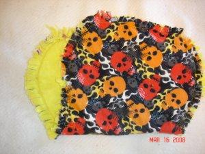 Skull/ Flame Rag Burp Cloth