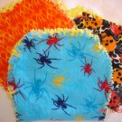 Set of 3 Flame/Skull/Spider Rag Burp Cloths