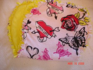 "Pink ""True Love"" Rag Burp Cloth"
