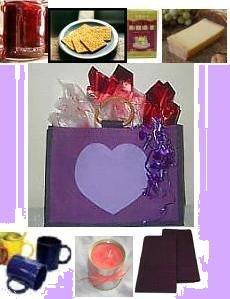 Gourmet Purple HEART Gift Bag