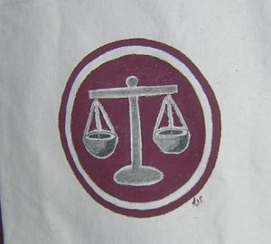 Scales of Justice Canvas Tote