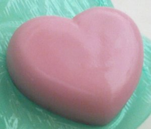 Soft Pink, gentle & pure olive oil  HEART soap