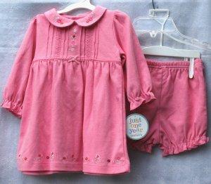 CARTERS Just One Year pin Dress Pantaloon Set - NWT - 9M