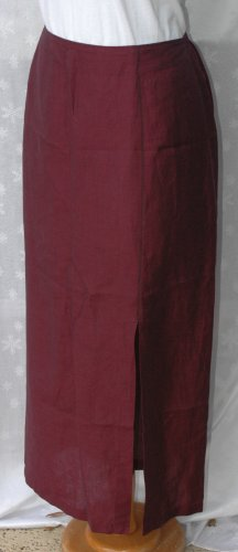 CHICO'S DESIGN Maroon Red Front Slit Skirt - 3