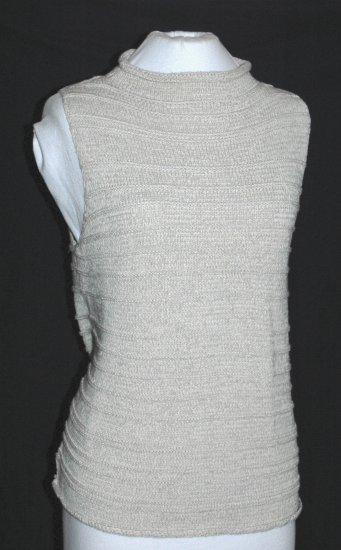 CHICO's DESIGN Khaki Tan Sleeveless Knit Top - Size 2