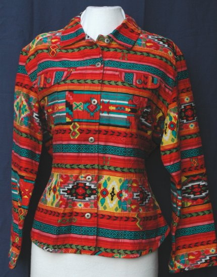CHICO'S Southwest VIBRANT Jacket - Size 3 Large XL