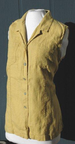 CHICO's DESIGN Golden LINEN Sleeveless Top - Chico's Size 3 L XL