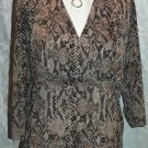 LIZ CLAIBORNE Animal Snake Print Empire Top - Size 1X